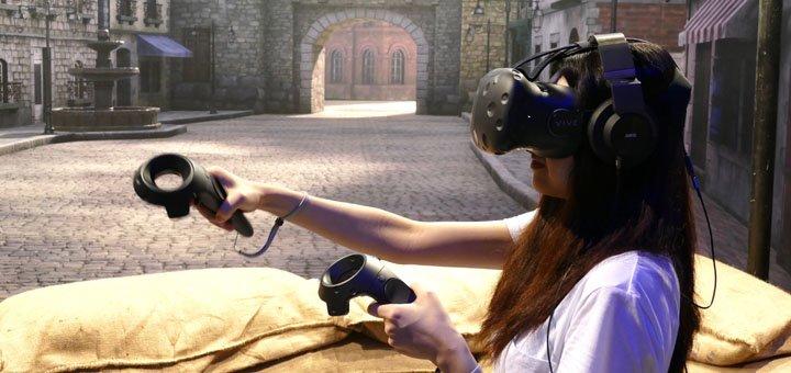 До 2 часов игры для двоих в очках виртуальной реальности «HTC VIVE VR» от клуба виртуальной реальности «VR HUB»