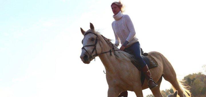 До 2 часов прогулки на лошади для взрослых и детей в конном дворе «ЦарSKY»