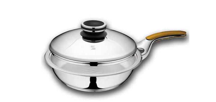 Скидка 10% на сковороду (2.5 л. - Ø 24 см) с ручкой и крышкой