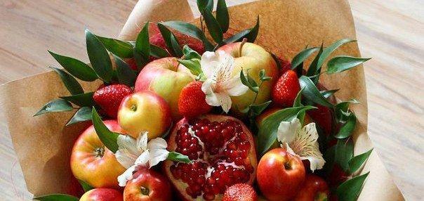 «Полезный букет» для дорогого человека с доставкой от «Victoriaflowers Market»