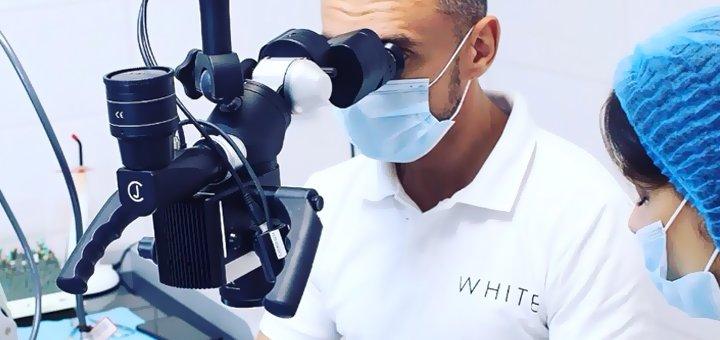 Ультразвуковая чистка зубов и Air-Flow в стоматологическом центре «White»