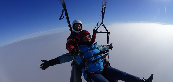 Скидка 30% на полет на параплане с инструктором от парапланерного клуба «DniProSky»