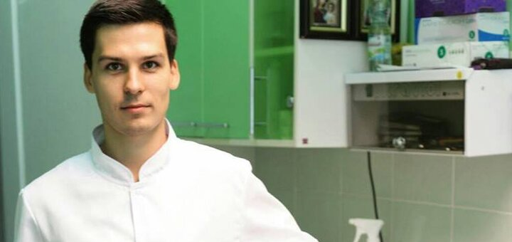 Скидка 57% на LED-отбеливание зубов от стоматолога Алексея Голикова