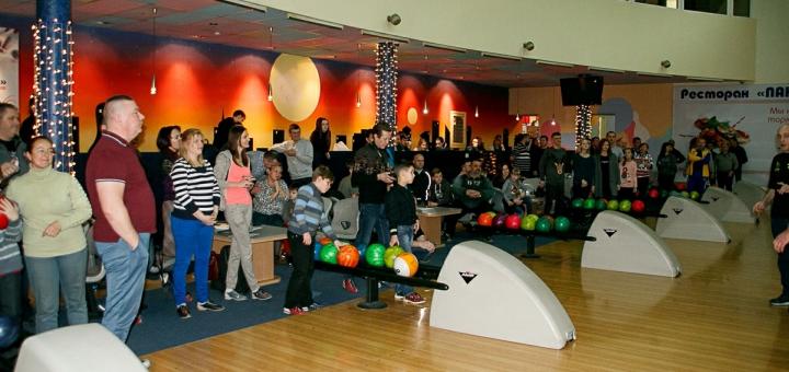 Скидка 50% на игру в боулинг в боулинг-клубе «Панорама»