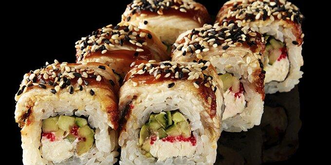 Скидка 50% на всё меню кухни, суши и пиццу с доставкой или самовывозом от лаунж-бара «Икра»