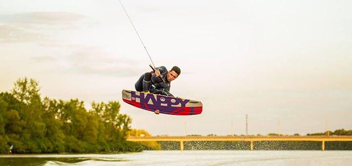 Скидка 35% на обучающий урок катания на вейкборде для начинающих от «Prokat.Koba»
