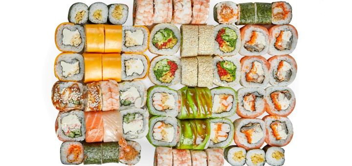 Скидка 50% на все меню кухни, суши, пиццу, WOK с доставкой или самовывозом от «KebaShok»