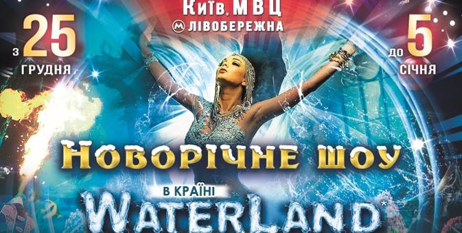 Скидка 200 грн на два любых билета на новогоднее шоу «Waterland» с 25 по 30 декабря