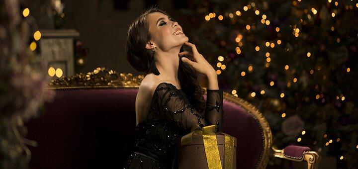 Новогодняя студийная фотосессия «Новогодний экспресс» в новой фотостудии от Жени Лайта