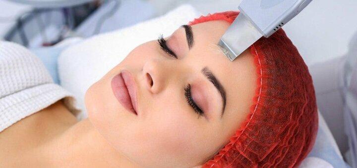 До 3 сеансів ультразвукової чистки обличчя та доглядових процедур в студії «RealBeauty»