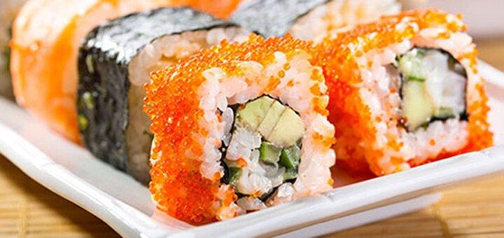 Скидка 50% на меню кухни, суши, пиццу и лапшу на вынос в ресторане «Банзай»